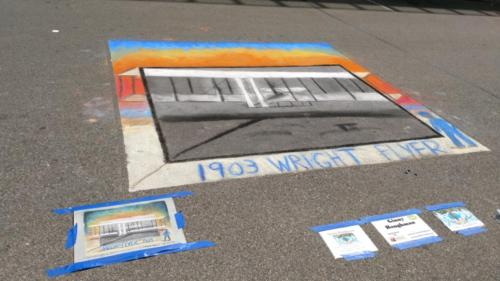 Wright Brothers Chalk Art